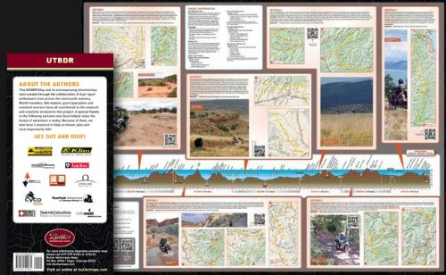 Butler Maps Utah Backcountry Discovery Routes Map,
