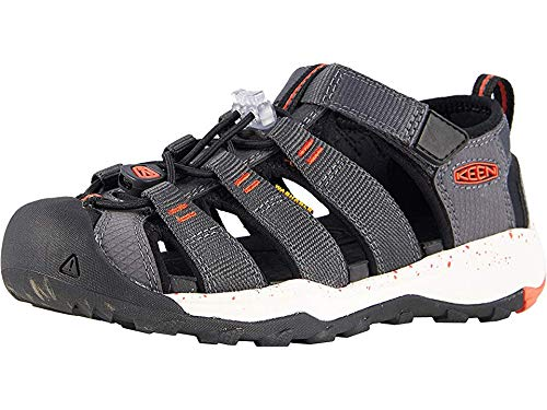 KEEN Youth Newport NEO H2, Magnet/Spicy Orange, 4 M - Sandals Youth H2 Newport