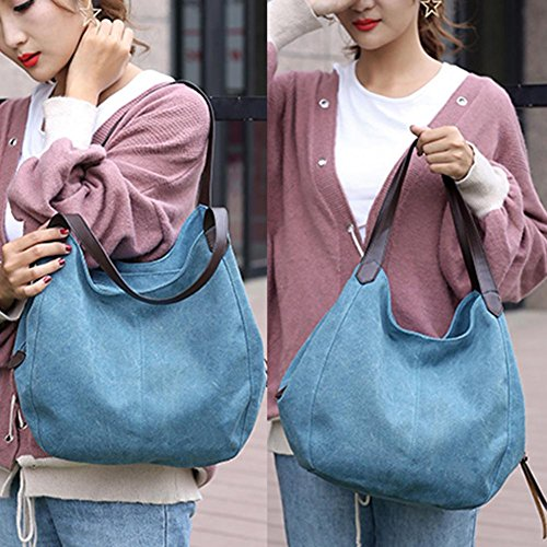 Blue Bag Hobos Vintage Widewing Handbags Women Sling Canvas Shoulder Totes xTqqwz8nA