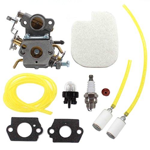 AISEN CARBURETOR AIR FILTER FUEL LINE FILTER FOR ZAMA C1M-W26C 545070601 545040701 530035590 530035589 POULAN P3314 P3314WS P3314WSA P3416 P3516PR P4018WM P4018WT PP3516 PP3816 PP4018 PP4218 (Carburetor 545070601)