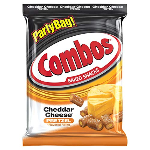 COMBOS Cheddar Cheese Pretzel Baked Snacks 15-Ounce Bag (2 Bag's)