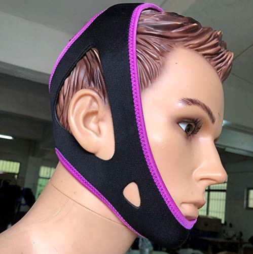 ZXWCYJ Anti Snoring Chin Strap, Anti Snore Device, Chin Strap for Snoring Solution, Give You The Best Sleep,Purple