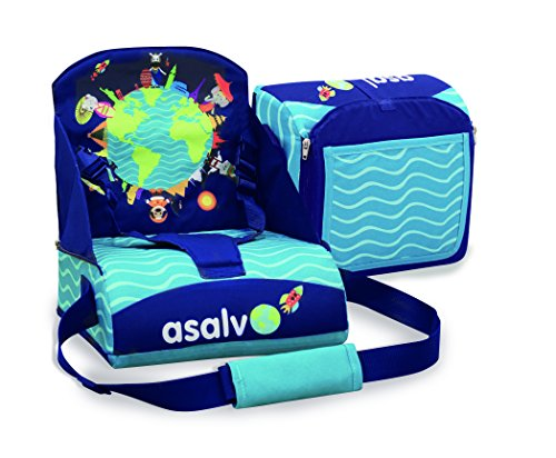 Asalvo 14009 Go Anywhere Animals of The Word Booster Seat, Multi-Colour