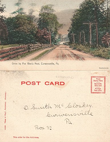 CURWENSVILLE PA DRIVE BY PEE WEE'S NEST UNDIVIDED ANTIQUE POSTCARD