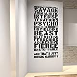 Awesome Gym Bodybuilding Weightlifting Wall Decal Motivational Fitness Quote.