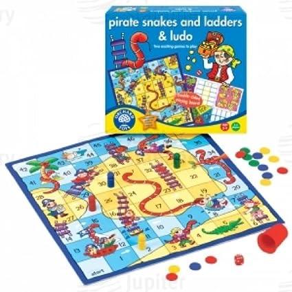 Orchard Toys - Juego de mesa de serpientes y escaleras (en inglés): Amazon.es: Oficina y papelería