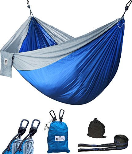 Utopia Home Supreme Nylon Hammock - Supports up to Two People or 400 LBS - Porch, Backyard, Indoor and Camping - Durable and Ultralight Material - Includes Adjustable Straps