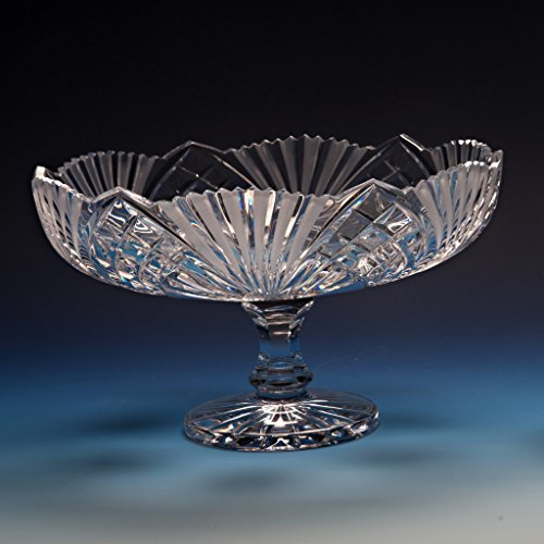 Cut Glass Compote (Kusak Cut Glass Works Symphony Compote Crystal Serving)