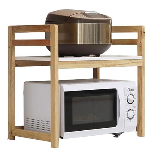 Estante Estante de cocina de madera maciza Horno de ...