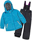 Deux par Deux Girls' 2-Piece Snowsuit I Have a Crush Anthracite, Sizes 6-14 - 6