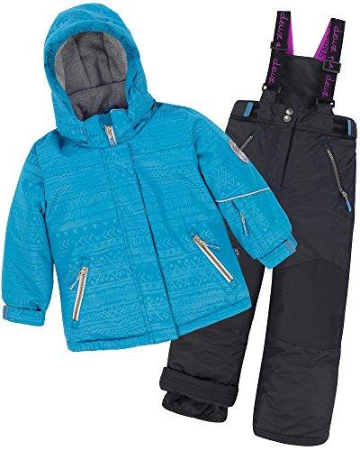 Deux par Deux Girls' 2-Piece Snowsuit I Have a Crush Anthracite, Sizes 6-14 - 6 by Deux par Deux