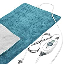 Z-Comfort King Size Fast Heating Pad Technology Various Temperature Settings, 27 Oz, Blue