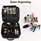 Travel Makeup Case PU Leather Professional Cosmetic