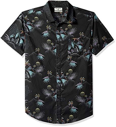 (Billabong Men's Sundays Floral Short Sleeve Shirt Black Medium)