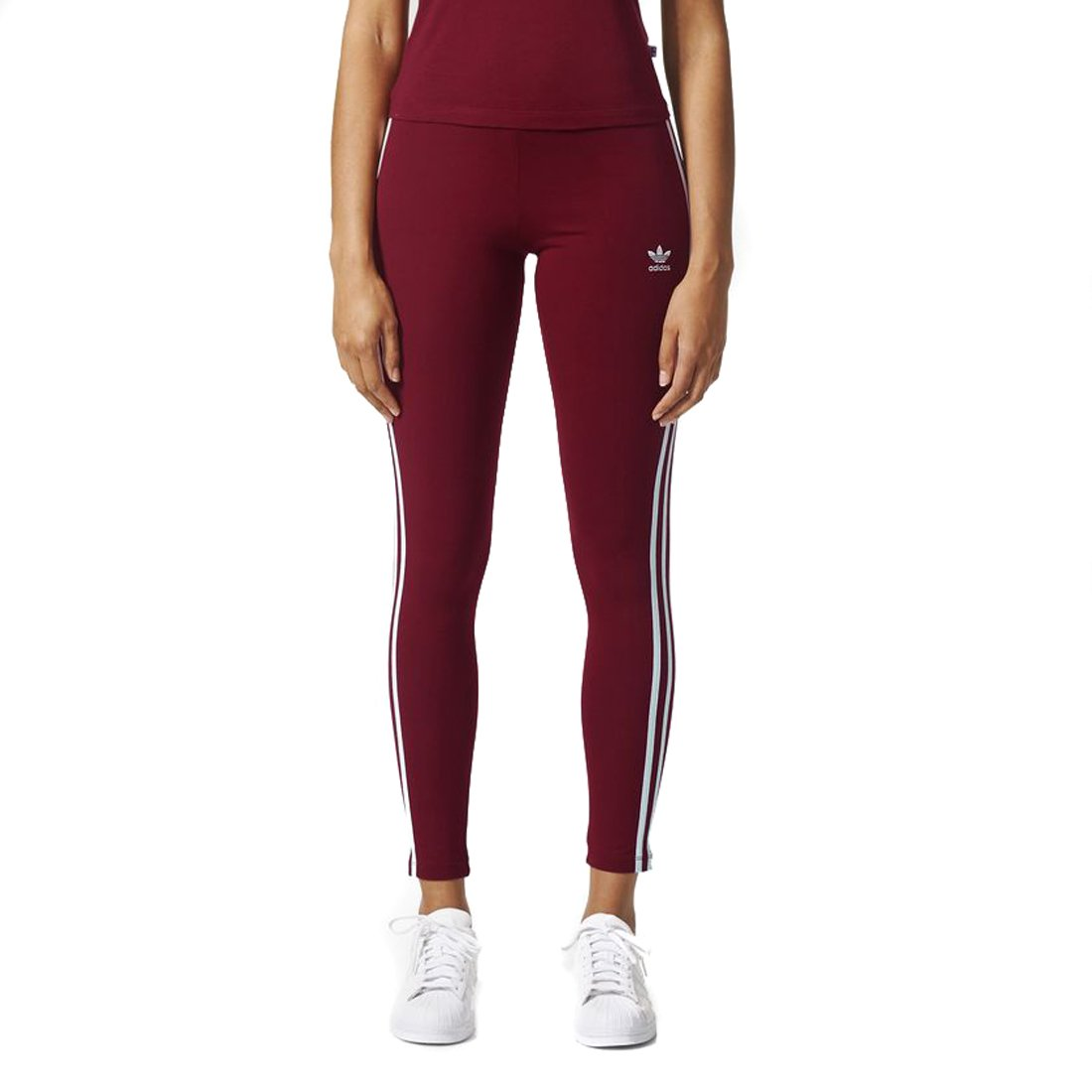 adidas Originals Women's 3-Stripes Leggings, Collegiate Burgundy, Small by adidas Originals