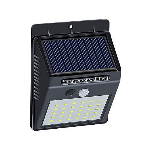 Brinonac 30LEDs Solar Lights Outdoor, Waterproof Wireless Solar Motion Sensor Security LED Wall Lights, with Grade A+ Battery,Solar Light for Outdoor,Front Door,Back Yard,Garage,Porch