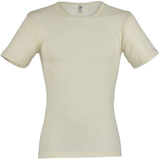 TALLA 46-48. Engel Axil - Camiseta interior de manga corta lana y seda ángel
