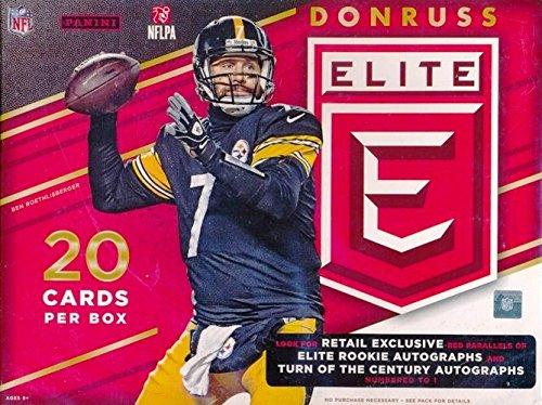 2016 Donruss Elite NFL Football EXCLUSIVE Factory Sealed HANGER Box with AUTOGRAPH or MEMORABILIA Card! Look for RC's & Autographs of Carson Wentz, Dak Prescott, Jared Goff, Ezekiel Elliott & More!