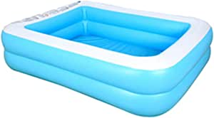 OTLIVE Swimming Pool Oversize for 1-7 Peoples PVC Thickened Abrasion Resistant Inflatable Pool (with Hand Pump)