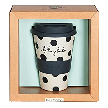 Bamboo Cup Life Begins After Coffee 400ml Coffee To Go Becher