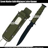 Etrading Green Small Marine Knife Replica Letter Opener Mini Dagger Drop Point Serrated