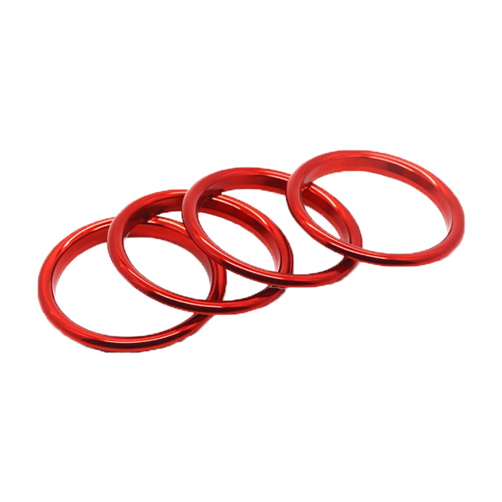 Haitech Car Air Vent, Decorazione per cruscotto Air Vent Surround per Audi A3/Styling Auto in Lega di Alluminio 4pcs