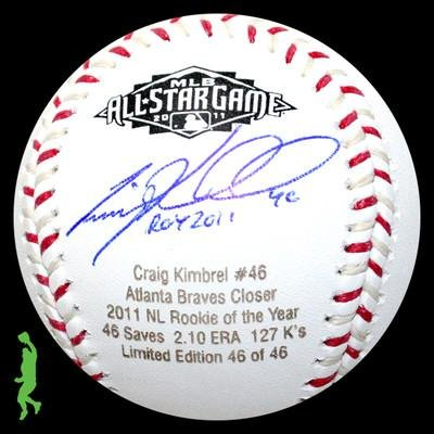 931fb0da0f0 Image Unavailable. Image not available for. Color  Craig Kimbrel Signed  Baseball ...