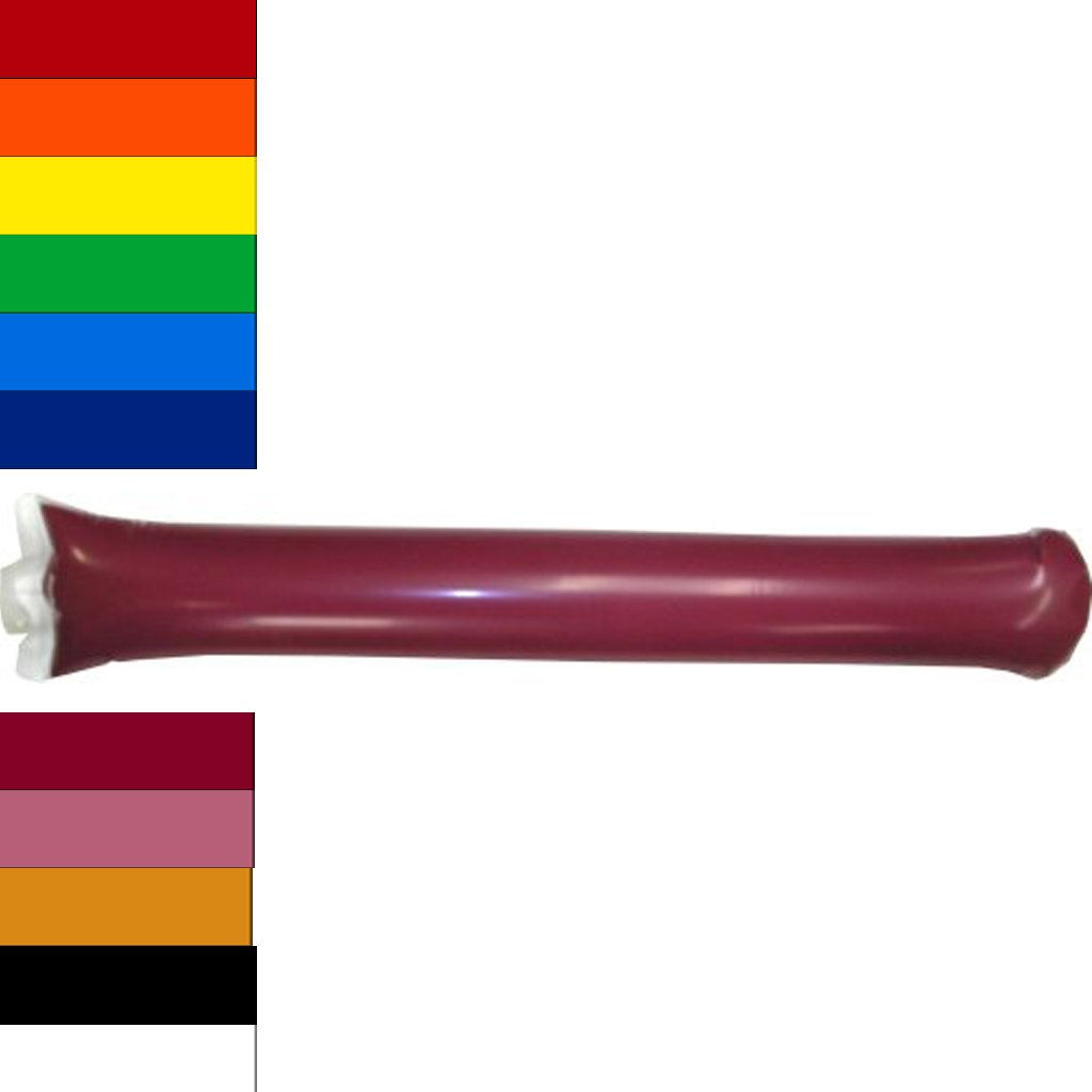 Team Color Bam Bam Thunder Stick Thunderstix Set of 20 -Inflatable Noisemakers Available in 11 Vibrant Colors (Maroon)