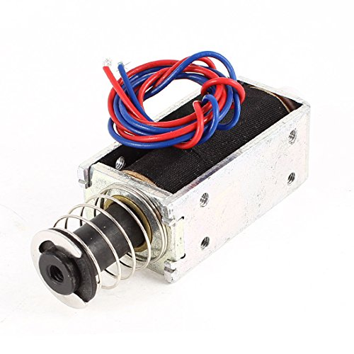 Uxcell a14052300ux1099 DC 24V 0.3A 20 mm 3.5 lb. Push Pull Type Tubular Solenoid, Electromagnet by uxcell