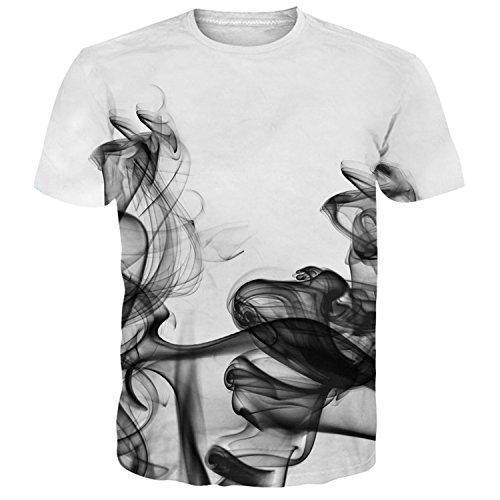 Idgreatim Unisex Cool Printed Short Sleeve Crew Neck T-Shirt Tees