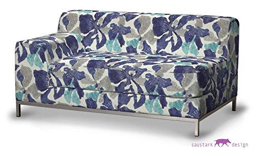 saustark design marbella cover for ikea kramfors 2 seat sofa left blue floral gmbh