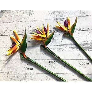 ShineBear -Single Flower 3 Sizes Bird of Paradise Plastic Artificial Flower Wedding Fake Flower – (Color: 1 pc, Size: 1 Piece 80cm)