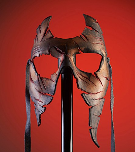 Handmade Genuine Leather Mask in Skin Tone for Masquerades Halloween or Cosplay Costume - Burned and Torn ()