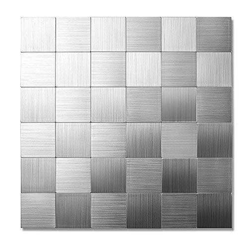 - Yipscazo Peel and Stick Mosaics, Kitchen Tile for Backsplash(12x12 Inch, Sample)