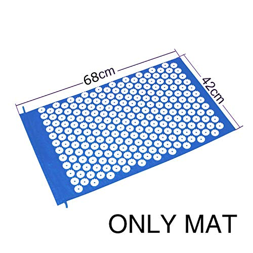 Acupressure Massager Cushion Yoga Mat for Body Head Relieve Stress Pain Yoga Pad Muscle Tension Spike Mat and -