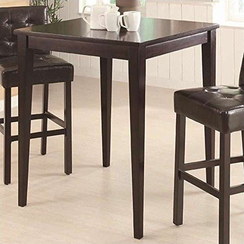 Square Pub Table Cappuccino by Coaster Home Furnishings
