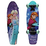 PlayWheels Frozen 21'' Wood Cruiser Skateboard, Make Magic