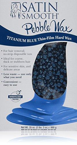 Satin Smooth Titanium Blue Thin Film Pebble Wax, 35 Ounce