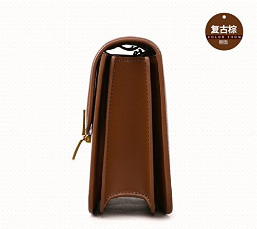 Red Wine De Cuero Messenger Bag Paquete Pequeño Simple Hombro Bolsos Xddb Salvaje ZURAqq