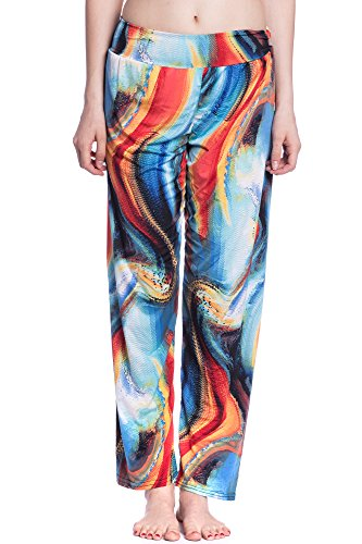Abbino J503-2017 Pantalones para Mujer - Hecho en ITALIA - Colores Variados - Entretiempo Primavera Verano Otoño Largos Deporte Casual Chico Fashion Elegantes Rebajas Clásico Atractivo Cordón Azul (Art. J503-2)