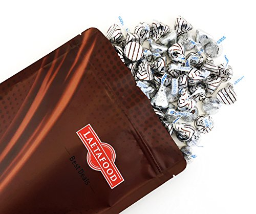 LaetaFood Hershey's Kisses Hugs Creme and Milk Chocolate Candy, Silver Foil (Pack of 2 (Chocolate Hugs)