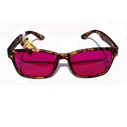 c09cddfc0ed Amber pattern Colorblindness Corrective Glasses Color Blind Red Green Color  Blind Vision Care - - Amazon.com