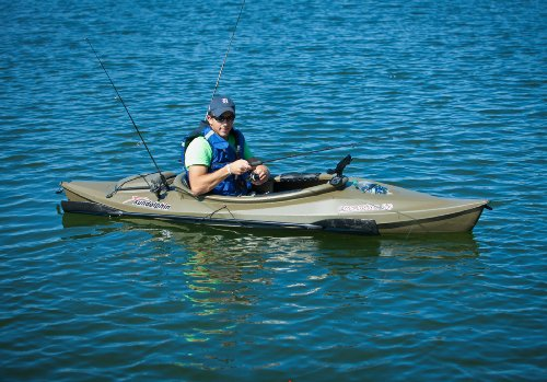 Sun Dolphin Excursion Sit-in Fishing Kayak (Olive, 10-Feet)