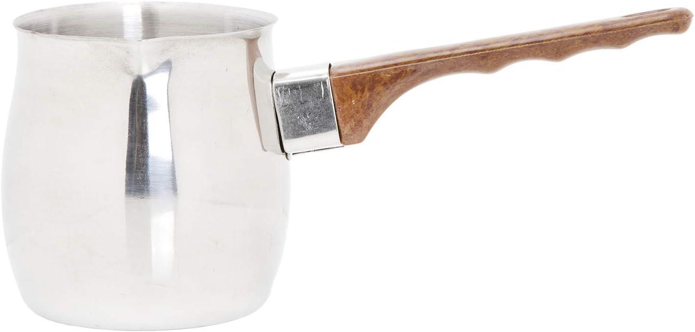 Royalford Calentador de café de acero inoxidable – 12 oz – Cafetera turca, té, leche – simple y elegante construcción de acero inoxidable – Mango fuerte y cómodo con boquilla de verter perfecto: Amazon.es: Hogar