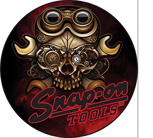 "S Snap on Tools Metal Skull Decal New 4"" Diameter"