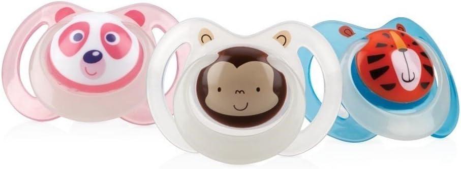 Nuby ID5877MFSN - Chupete oval que brilla en la oscuridad: Amazon.es: Bebé
