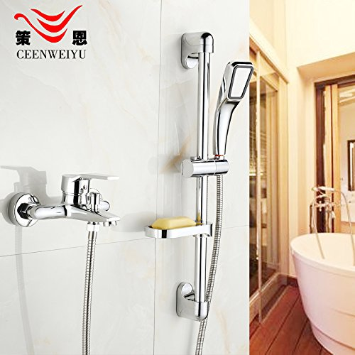 D) Hlluya Professional Sink Mixer Tap Kitchen Faucet Shower set rain shower set with lifting lever full copper shower faucet with the water,D