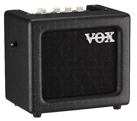 VOX MINI3G2BK Battery Powered Modeling Amp, 3W, Black (Korg Mp3)