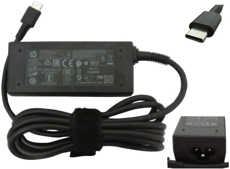 HP 814838-002 45W USB-C Replacement AC Adapter for HP Spectre X2 12-ab010nr, 13-v001dx,13-v010ca, 13-v011dx, 13-v018ca,13-v021nr, 13-v024tu, 13t-v000 CTO Detachable PC Series