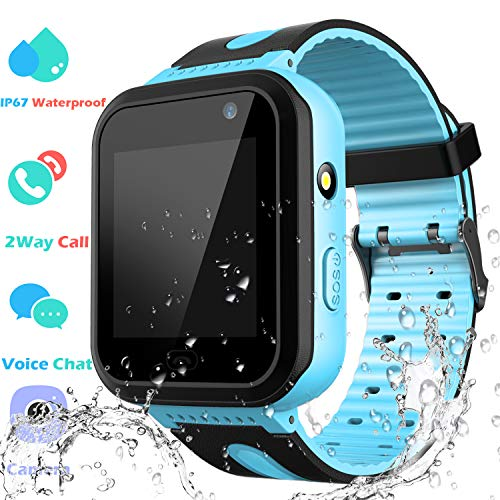 Waterproof Smart Watch Phone Boys Girls - Kids Smartwatch Touchscreen Digital Watch with SOS 2 Way Call Voice Chat Camera Game Flashlight Alarm Clock Children Sports Wrist Watch Birthday Gifts
